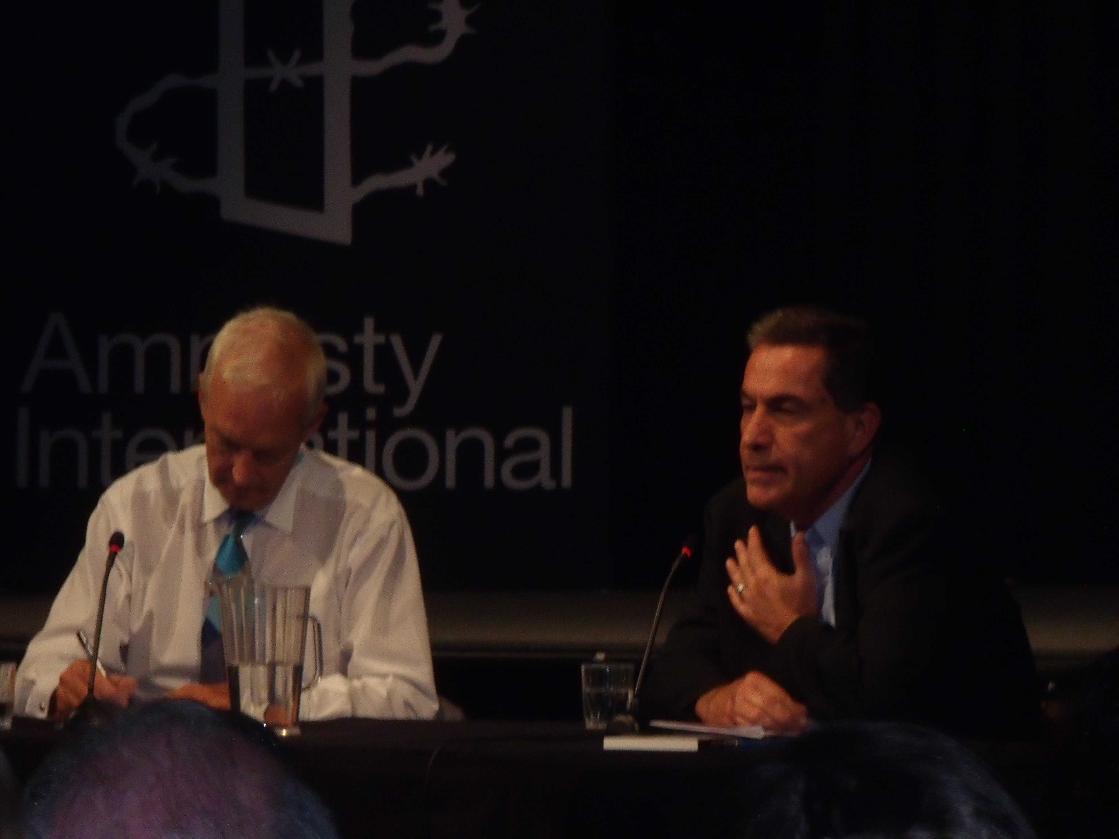 I went to hear Gideon Levy talk at Amnesty in London last night.