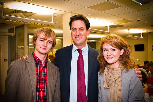 New Labour leader, Ed Miliband (middle).