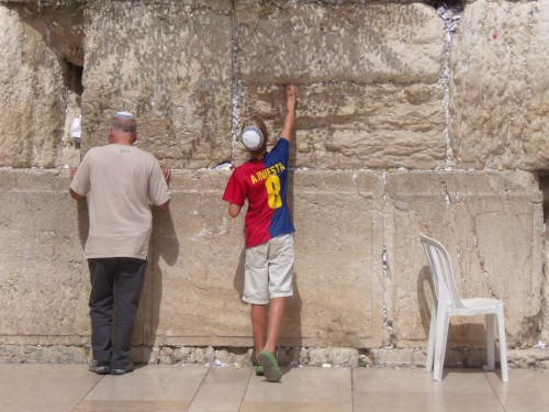 Praying at the Western Wall
