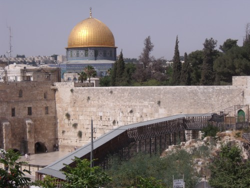 Golden Domed Mosque sits atop the Jewish Temples' site
