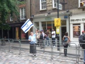 A lone protester
