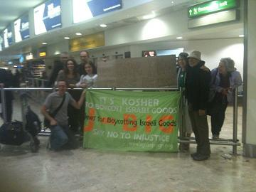 Heathrow: Mr Secker's welcome home party (Jewish Chronicle).