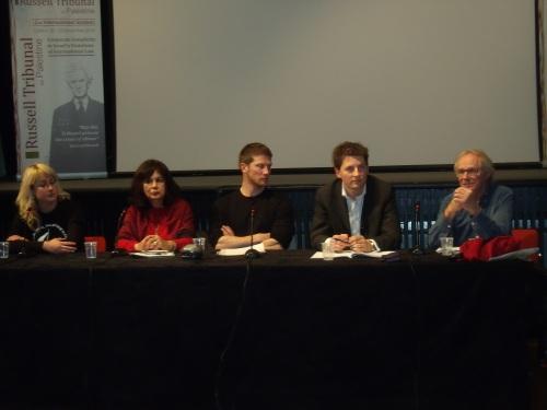 Ewa Jasiewicz, Dr Ghada Karmi, Frank Barat, Paul Troop, Ken Loach