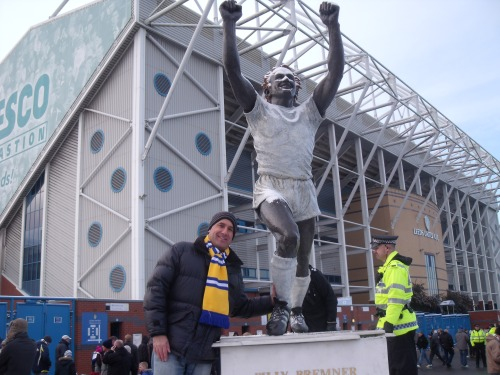 Next to statue of Billy Bremner who died in 1997 aged just 54.