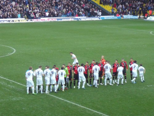 Leeds and QPR shaking hands