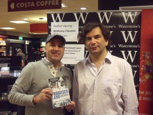 Meeting Anthony Clavane on Sunday morning in Waterstone's in Leeds