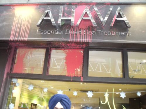 Bloodied but unbowed: Ahava after a recent attack.