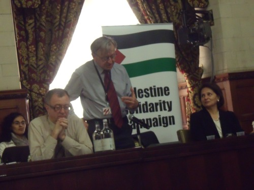 Richard Burden MP, Lord Alf Dubs, Hind Khoury (Sabeel)