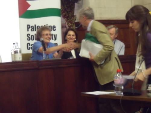 "Jeremy Corbyn MP congratulates ""dissident Jew"" Diana Neslen."