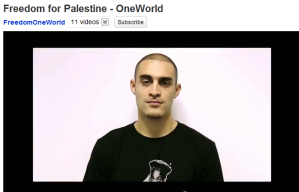 Lowkey in One World's Freedom for Palestine video promoted by Lush.
