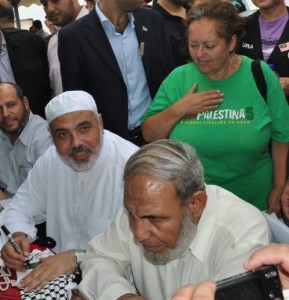 Swords with Hamas' Ismail Haniya and Mahmoud Zahar (hurryupharry.org)