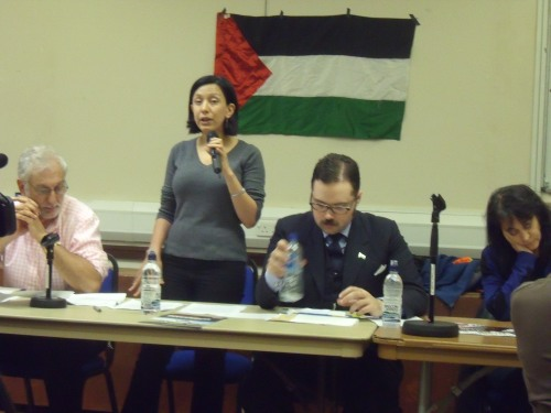 "A ""Palestinian refugee"" speaking last night."