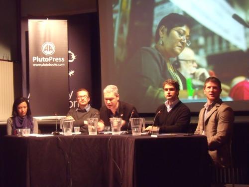 Rafeef Ziadeh, Asa Winstanley, John Hilary, Joseph Dana, Frank Barat at Amnesty.