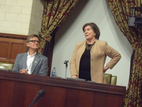 Mads Gilbert and Jenny Tonge last night in Parliament.