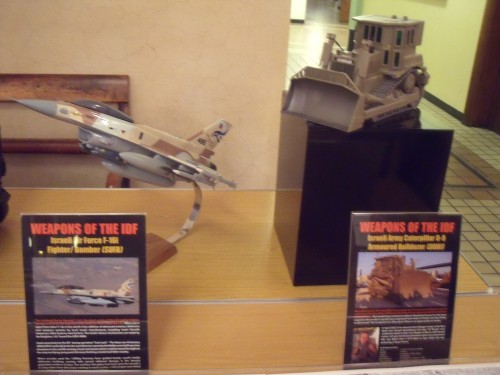 Toy models displayed in lobby at Conway Hall.