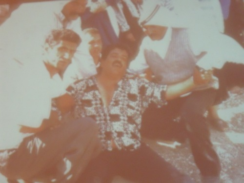 Halper's slide of Salim Shawamreh after a house demolition.