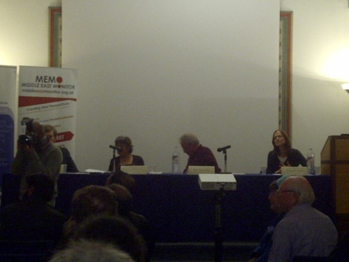 Milne, Alibhai-Brown, Llewellyn, Rowland listening to Jenny Tonge's rant last night.