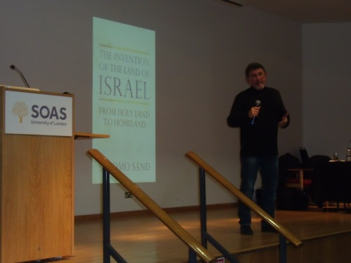Shlomo Sand in full flow at SOAS last night.
