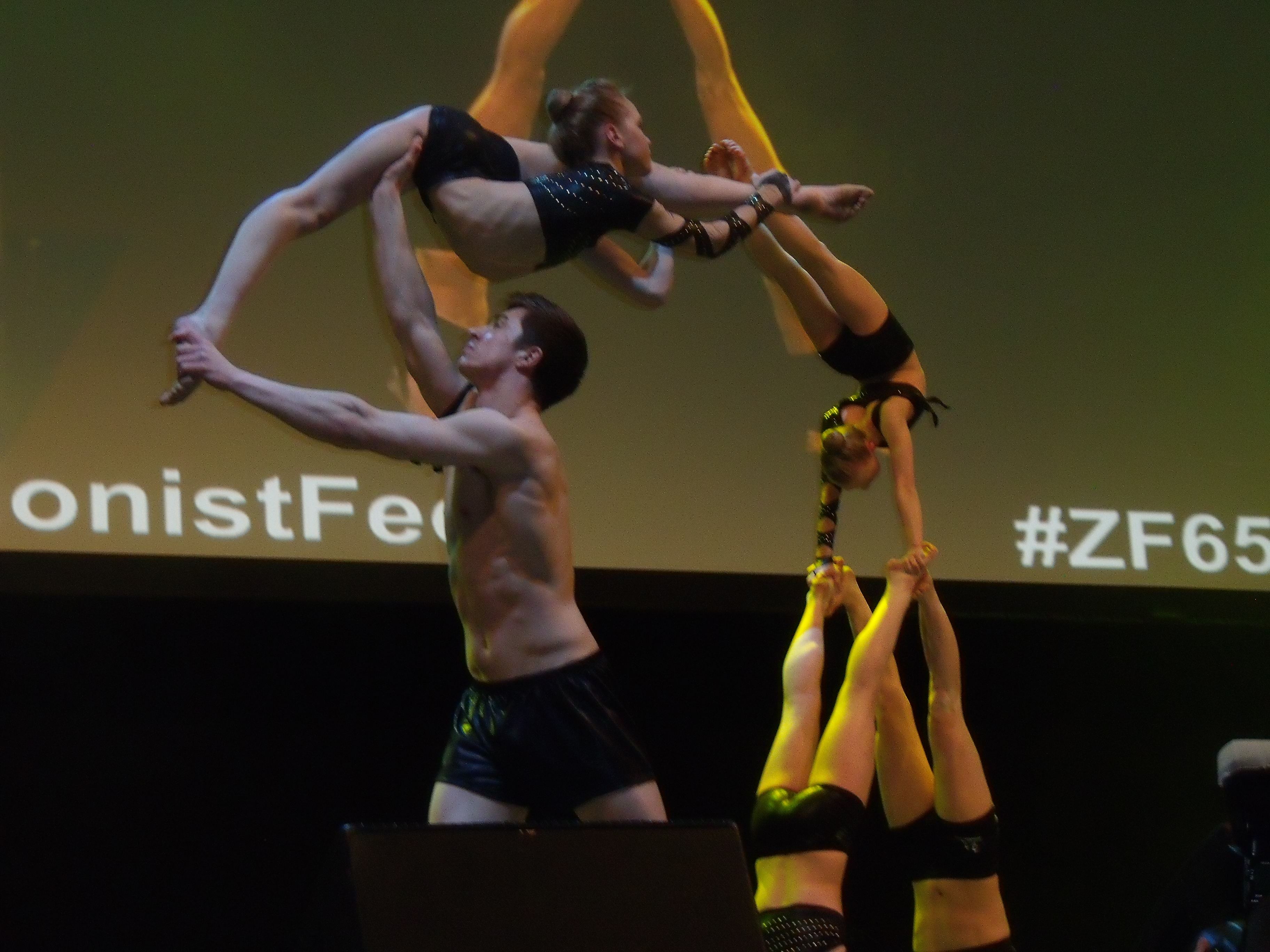 Gymnastic troupe Spelbound perform for Israel's 65th.
