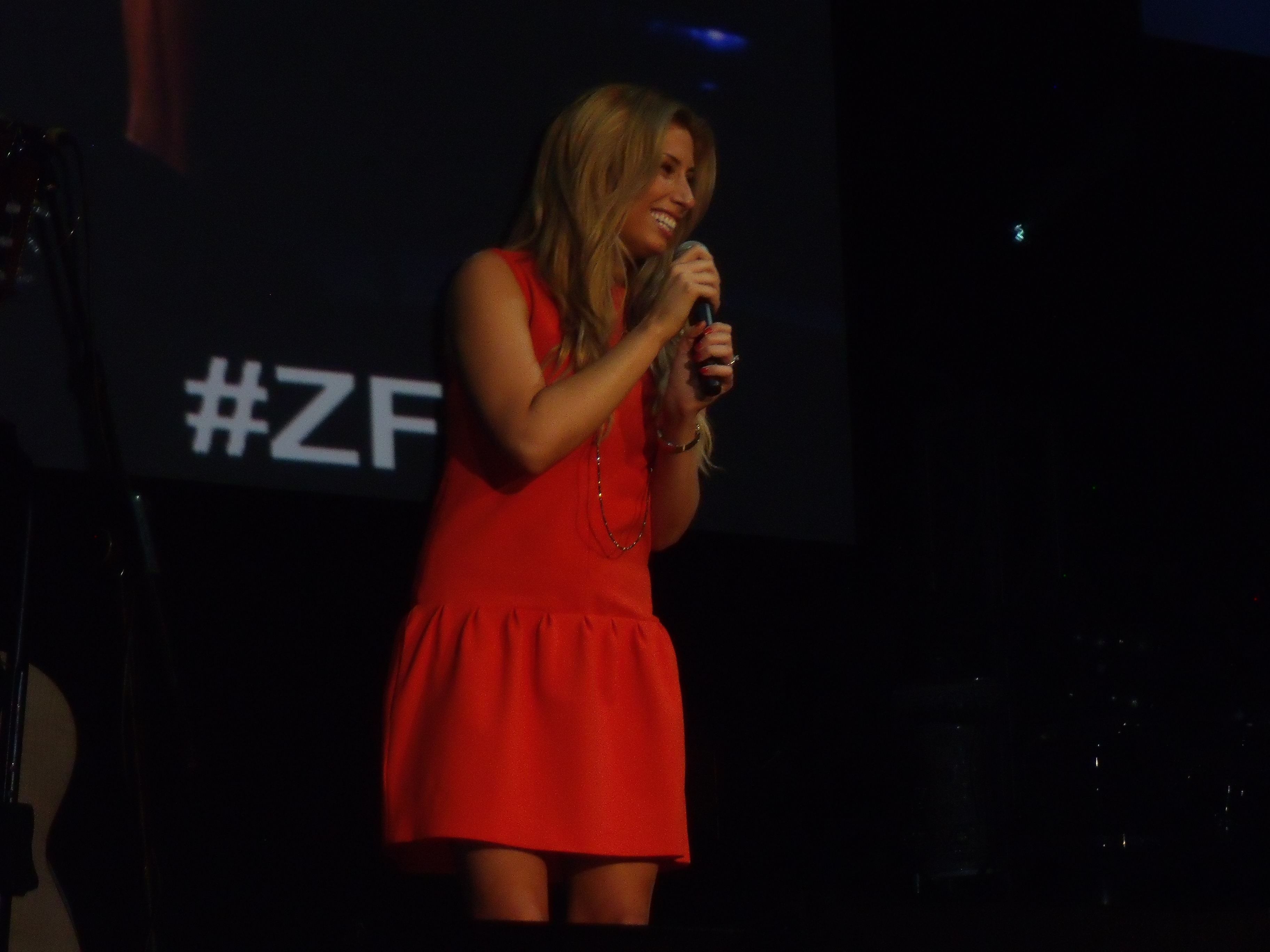 Stacey Solomon singing for Israel's 65th.