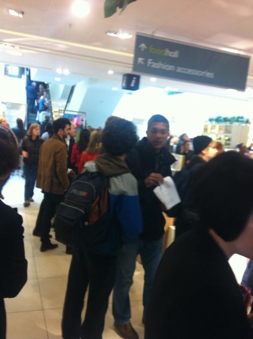 PSC's Salim Alam handing out anti-Israel leaflets inside John Lewis.