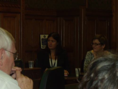 Labour MP Lisa Nandy (Shadow Minister for Children) and Palestine Solidarity Campaign's Sara Apps in Parliament last night.