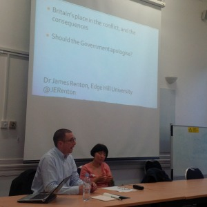James Renton and Deborah Maccoby of JfJfP at SOAS.