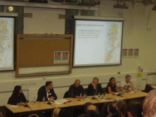 Brenna Bhandar (Chair), Daniel Machover, Jamal Juma, Fafeef Ziadah, Frank Barat.