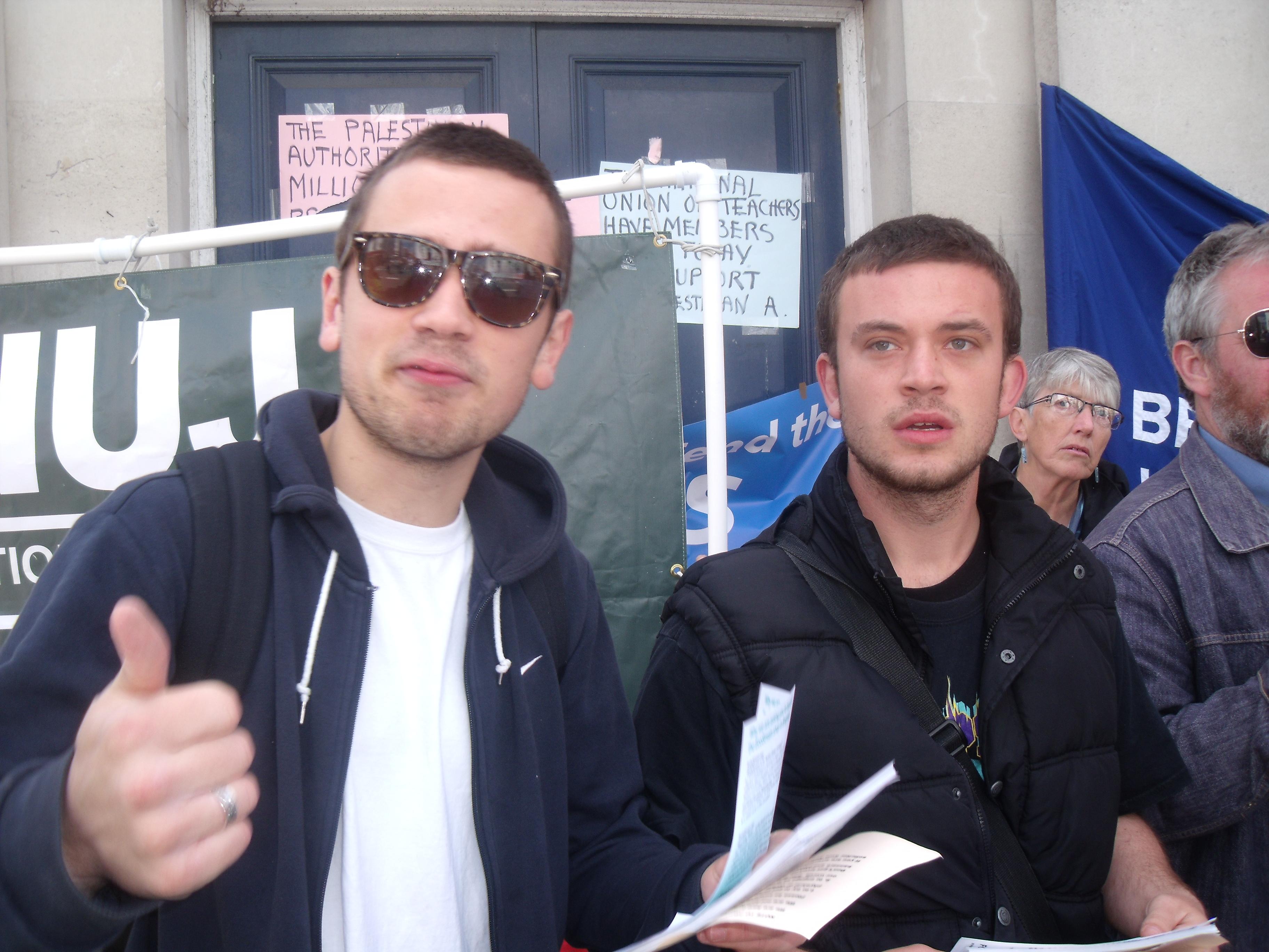 Some dashing anti-Israel trade unionists.
