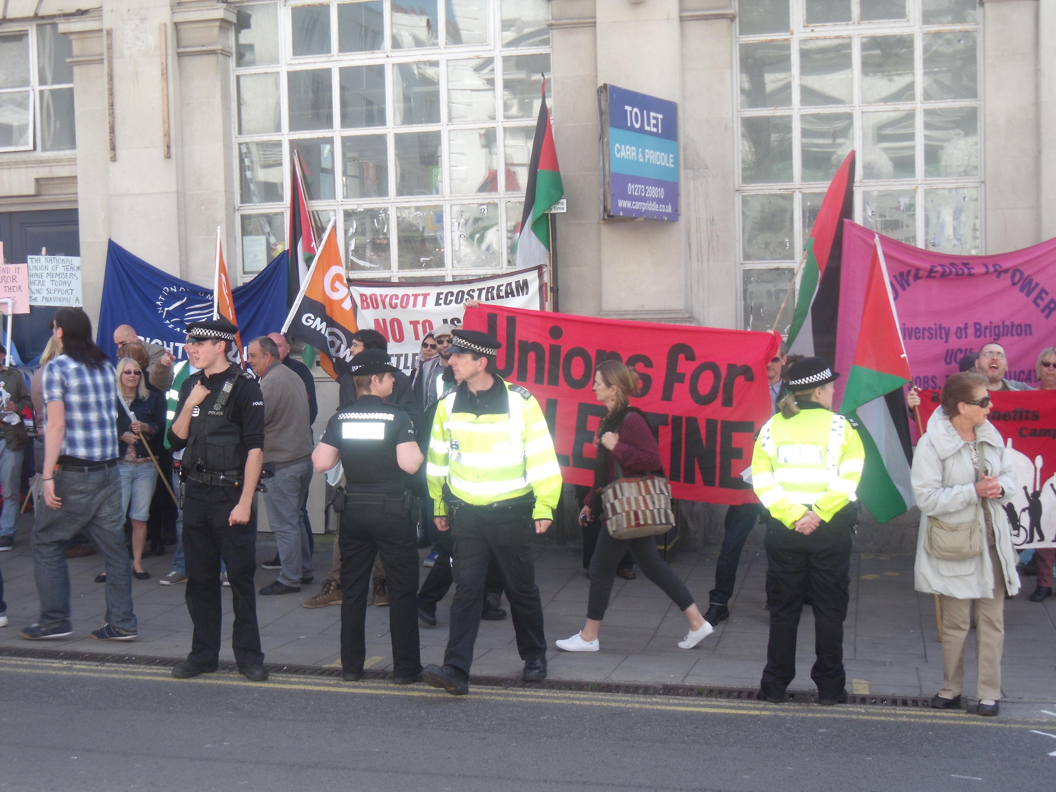 University of Brighton wanting to shut down Palestinian and Israeli jobs.