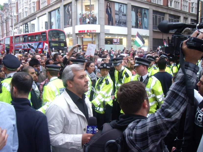Police under pressure and looking under-numbered for once.