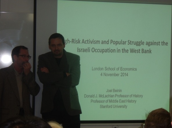 Joel Beinin and John Chalcraft in discussion last Tuesday at LSE.