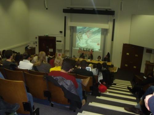 Aitemad Muhanna-Matar, Zena Agha, Rana B. Baker,  Mezna Qato at LSE last week.