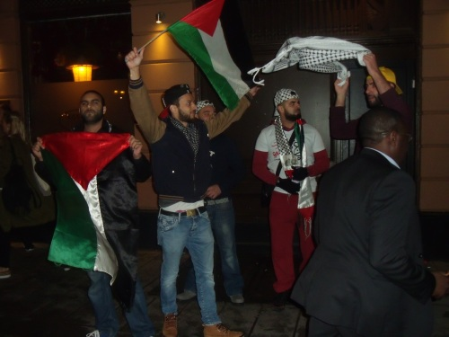 Screaming for Israel's destruction after the match.
